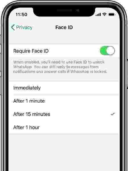 WhatsApp ganha destravamento por reconhecimento facial e por impressão digital - Divulgação/WhatsApp