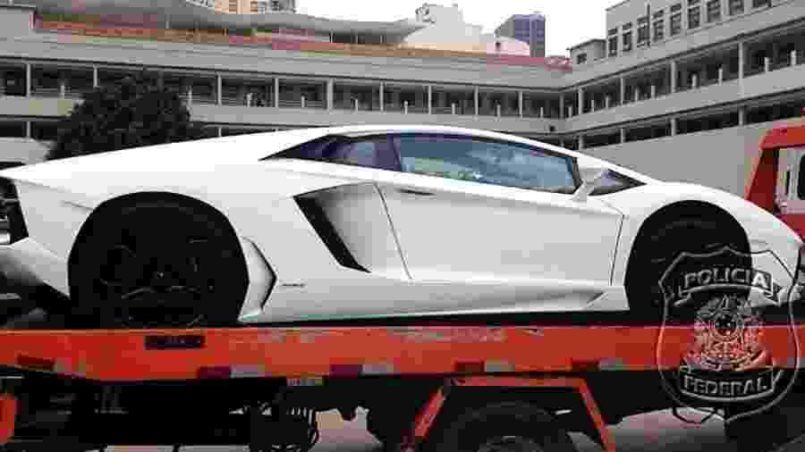 Lamborghini de Eike Batista apreendida pela Lava Jato será leiloada no Rio - Reprodução/Polícia Federal