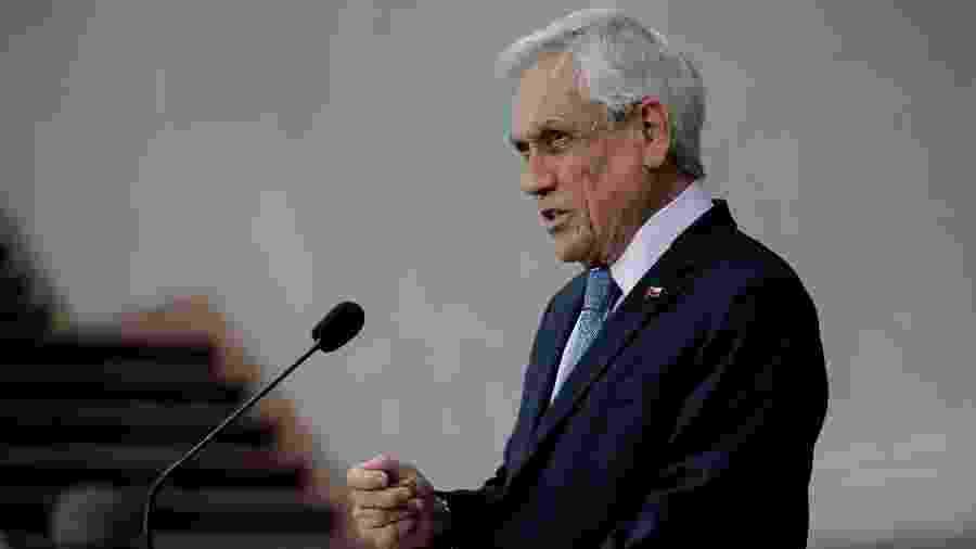 Presidente do Chile é alvo de denúncia por violações dos direitos humanos na repressão aos protestos contra o governo - Javier Torres/AFP