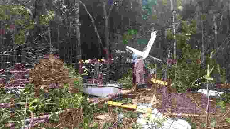 Avião que caiu em Manaus com 11 pessoas; ninguém morreu - Divulgação/Secom Governo do Amazonas