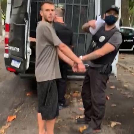 Igor Gomes de Moraes é preso suspeito de assassinar a mãe em um condomínio na Barra da Tijuca, no Rio - Divulgação/Polícia Civil RJ