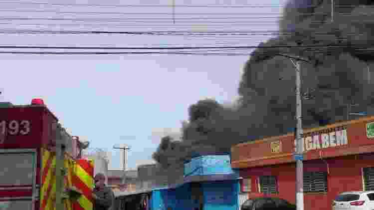 incêndio - Divulgação/Corpo de Bombeiros - Divulgação/Corpo de Bombeiros