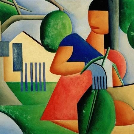 """A obra """"A Caipirinha"""", de Tarsila do Amaral - Reprodução"""