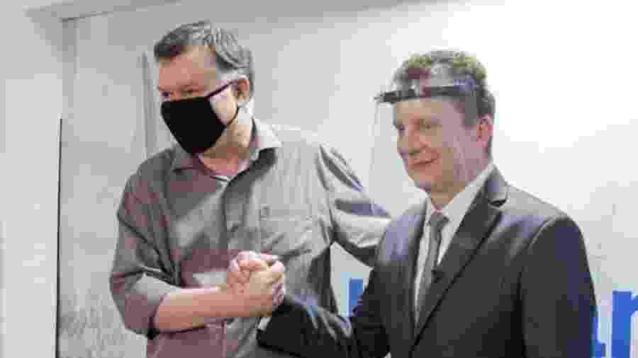 Russomanno com o ex-presidente da OAB-SP Marcos da Costa, candidato a vice na chapa do deputado federal  - 16.set.2020 - Reprodução/Facebook/MarcosdaCostaPaginaOficial