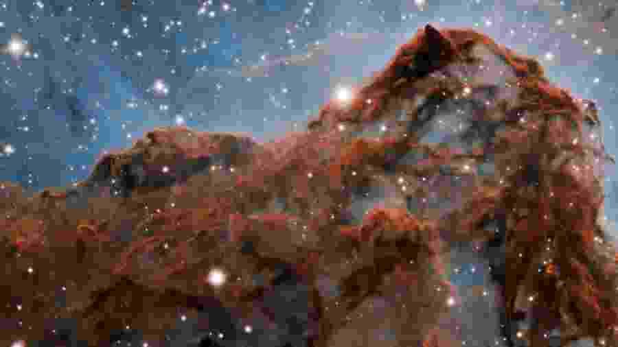 Daqui da Terra, telescópio conseguiu captar detalhes da nebulosa - International Gemini Observatory/NOIRLab/NSF/AURA