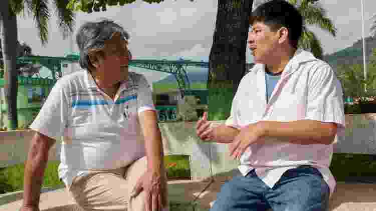 Zapata e Tenorio Cortez se encontraram novamente em Pichanaki quase três décadas após a famosa foto - Christine McNab/United Nations Foundation - Christine McNab/United Nations Foundation