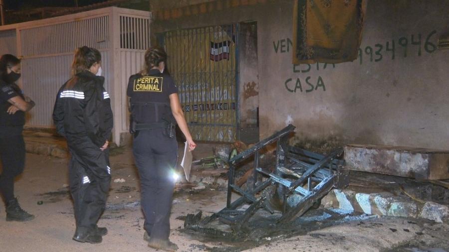 Testemunhas afirmaram que vítima fora linchada antes do crime e que ainda estava viva quando foi incendiada - PCDF/Divulgação
