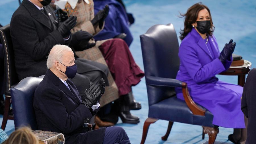Gestão da crise migratória na fronteira com México é a primeira missão que Biden encarrega à sua vice-presidente Kamala Harris - Drew Angerer/Getty Images