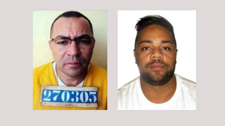 Valdeci Alves dos Santos, 49, o Colorido, e Odair Lopes Mazzi Júnior, 39, conhecido como Vini ou Argentina - Reprodução