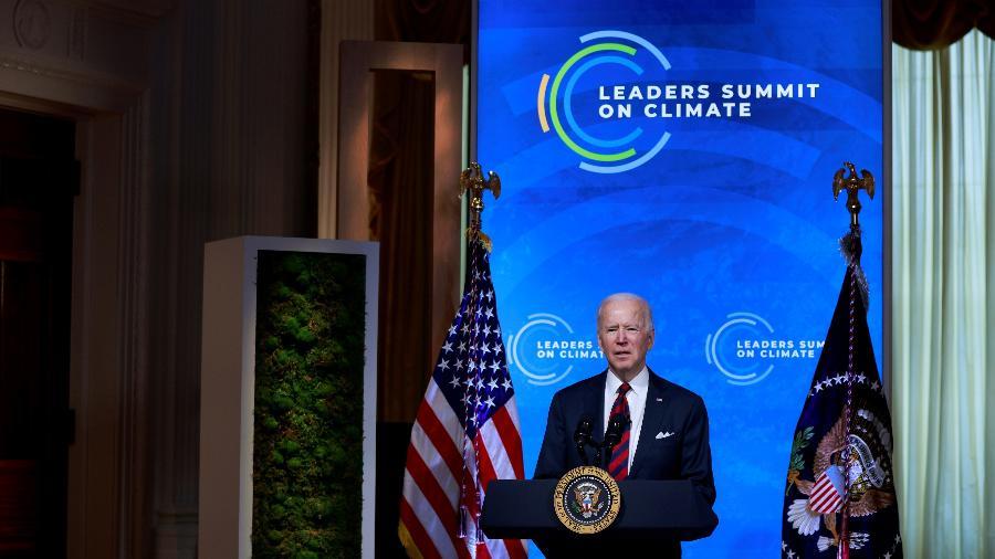 """""""Sei que podemos aproveitar a oportunidade e termos uma economia mais resiliente"""", disse Biden no encerramento do encontro - REUTERS/Tom Brenner"""