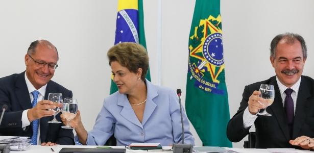 BNDES e Sabesp assinam contrato para obra que vai abastecer o Cantareira - Roberto Stuckert Filho/PR