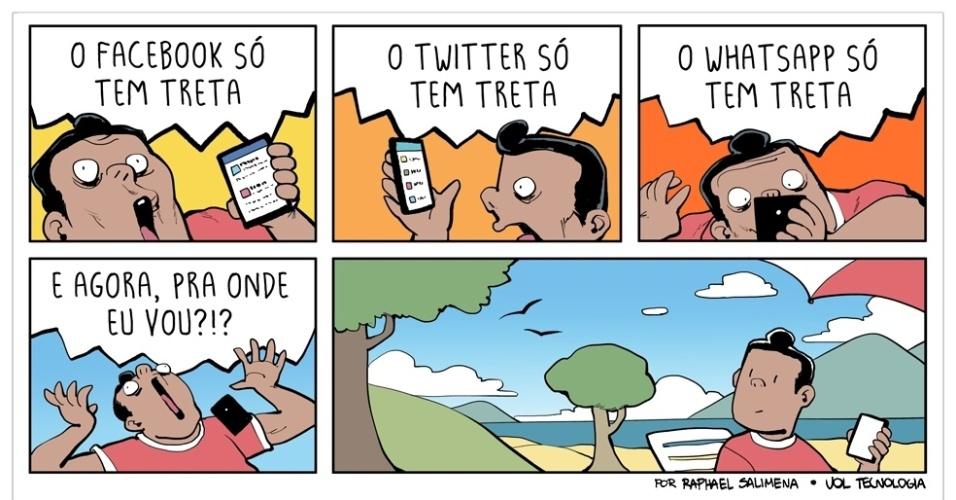 "21.nov.2015 - ""Só tem treta"""