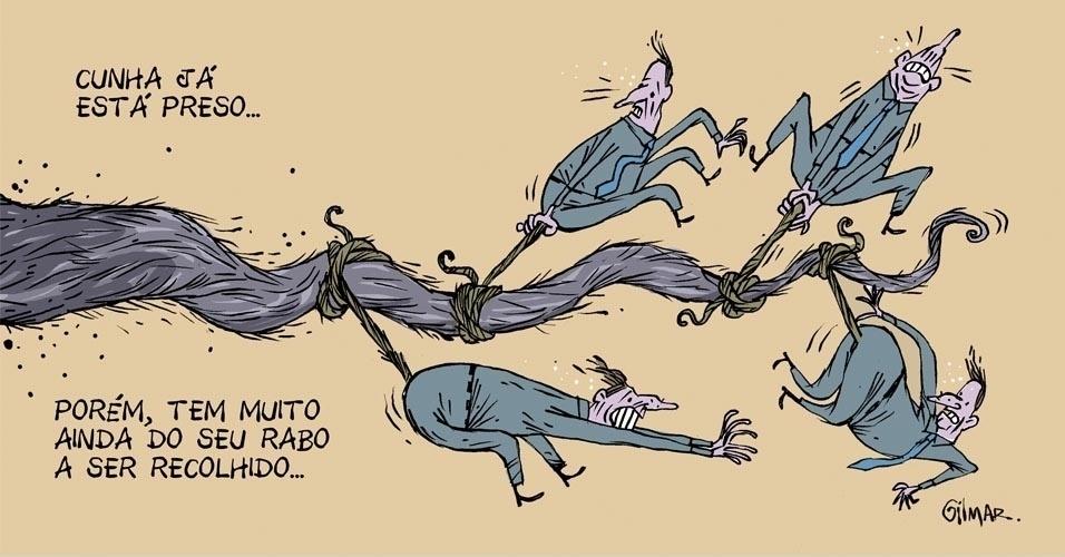 """22.out.2016 - Após a prisão de Eduardo Cunha, resta ver quem possui o """"rabo preso"""" com o ex-deputado"""