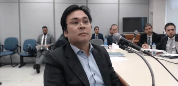 Fábio Yonamine, ex-presidente da OAS Investimentos, depõe ao juiz Sergio Moro - Reprodução/Justiça Federal do Paraná