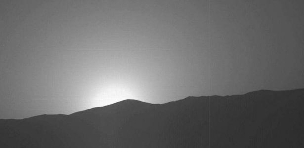 Registro do pôr do sol em Marte foi feito pela sonda Curiosity
