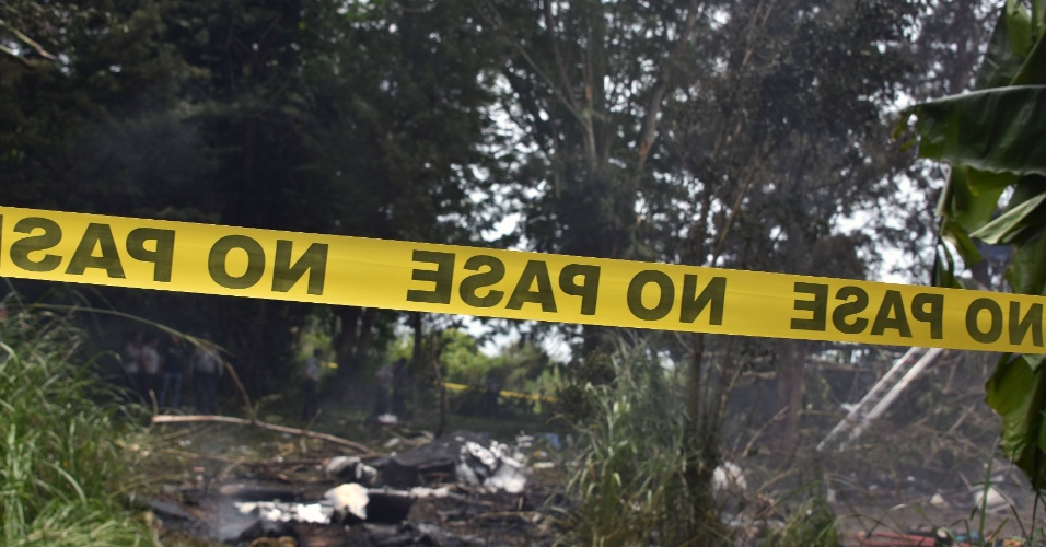 18.mai.2018 - Local isolado em que o acidente aconteceu, próximo ao aeroporto de Jose Martí em Havana, Cuba