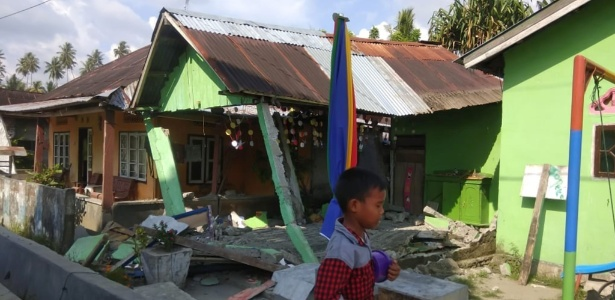 28.set.2018 - Terremoto atinge ilha de Sulawesi, na Indonésia - BNPB/AFP