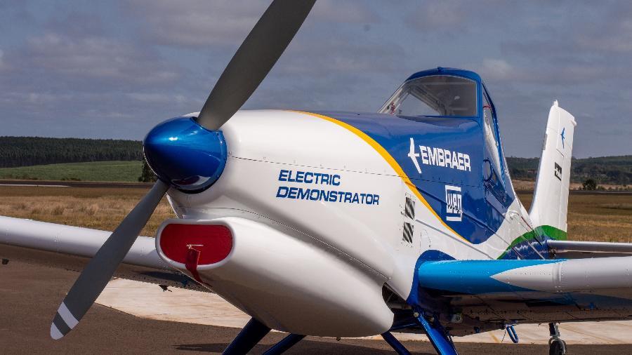 O novo avião elétrico da Embraer deve fazer o primeiro voo de teste no ano que vem - Divulgação