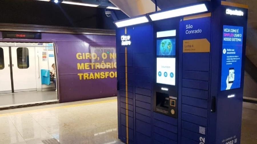 MetrôRio terá armários inteligentes para receber compras on-line - Reprodução
