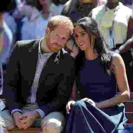 Príncipe Harry e a mulher, Meghan, durante visita a Sydney - Phil Noble