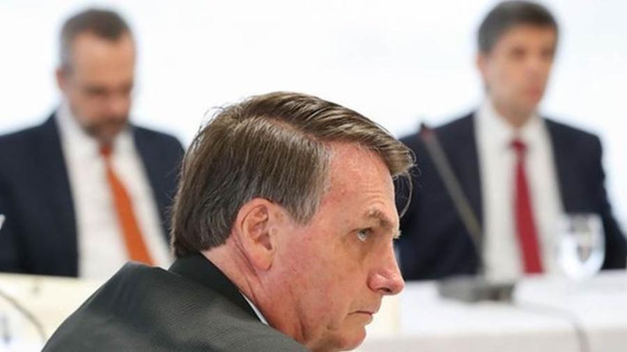 O presidente Jair Bolsonaro durante reunião ministerial em 22 de abril, cuja conteúdo veio a público nesta sexta-feira (22) - Marcos Corrêa/Presidência da República