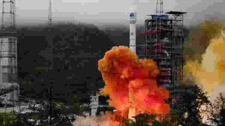 Com o lançamento do foguete Longa Marcha 3B, a China colocou em órbita o satélite número 35 de seu sistema BDS - Reuters - Reuters