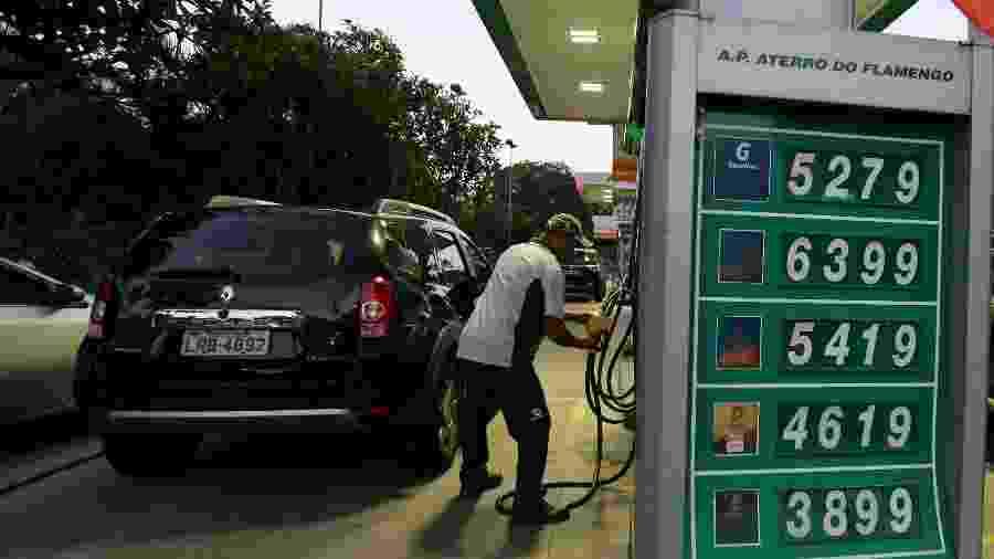 Posto de combustíveis no Rio de Janeiro - SERGIO MORAES