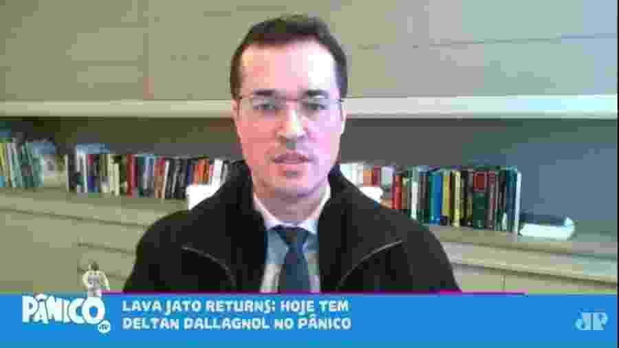 O procurador da República e coordenador da força-tarefa da Lava Jato em Curitiba, Deltan Dallagnol, em entrevista ao Programa Pânico - Reprodução/Programa Pânico/Rádio Jovem Pan