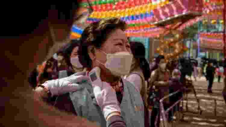 Até agora, Coreia do Sul tinha sido exemplo de sucesso no combate ao novo coronavírus - Getty Images - Getty Images