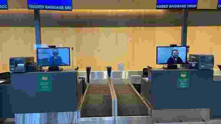 Latam colocou monitores para tirar atendentes físicos do check-in - Divulgação - Divulgação
