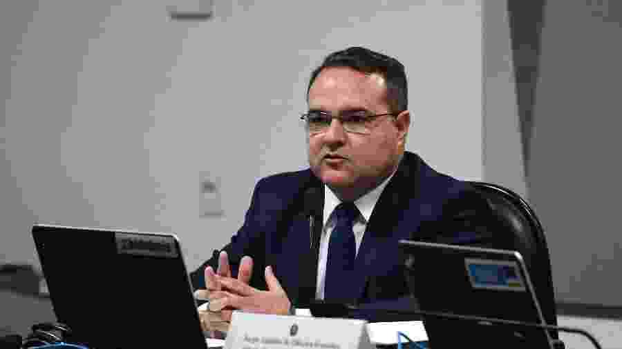 20.out.2020 - Jorge Oliveira, indicado ao TCU, em sabatina no Senado - Edilson Rodrigues/Agência Senado