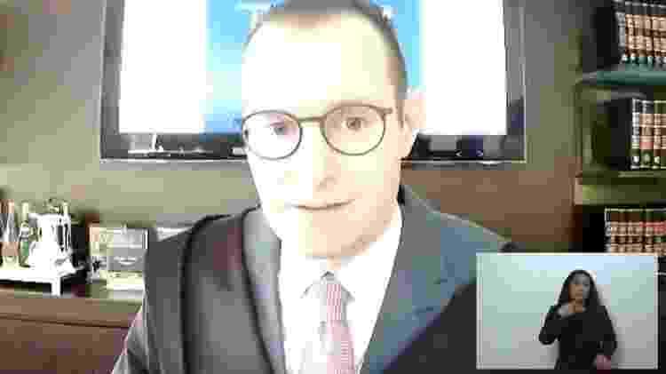 09.fev.2021 - Advogado Cristiano Zanin Martins, durante julgamento do STF sobre mensagens da Lava Jato - Reprodução - Reprodução