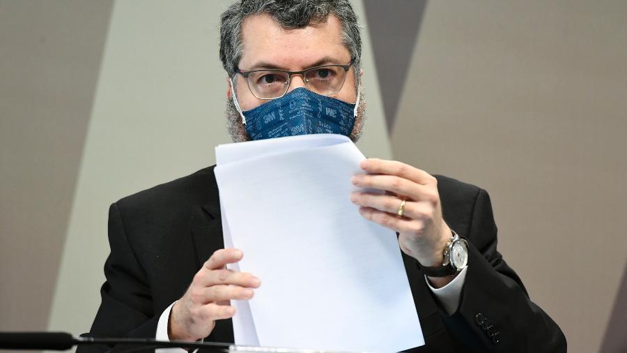 CPI da Covid ouve o ex-ministro das Relações Exteriores, Ernesto Araújo - Jefferson Rudy/Agência Senado
