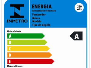 Etiqueta de eficiência energética para geladeiras - Inmetro - Inmetro