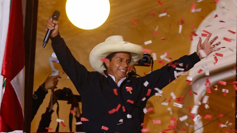 Pedro Castillo tem sido apontado como vencedor das eleições no Peru - Gian Masko/AFP
