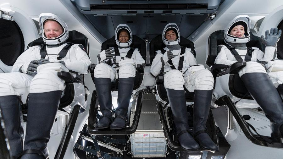 Tripulação da missão Inspiration4, da SpaceX - Divulgação/SpaceX