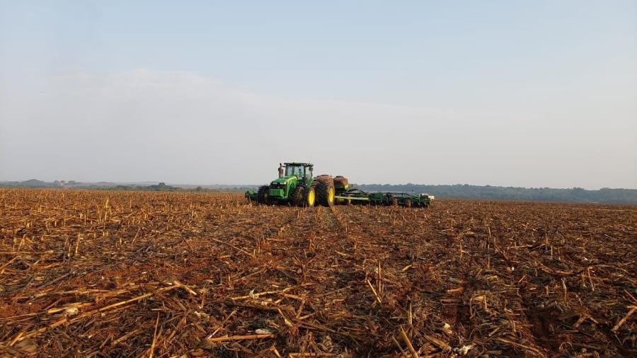 Grupo Bom Futuro plantando soja - Divulgação
