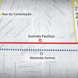 Mapas ciclovias - Paulista - Arte UOL