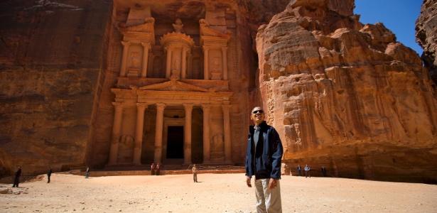 Obama visita as ruínas de Petra, na Jordânia, após quatro dias de negociações de paz no Oriente Médio, em março de 2013