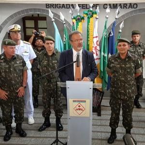 Ministro da Defesa, Raul Jungmann, durante entrevista em Natal
