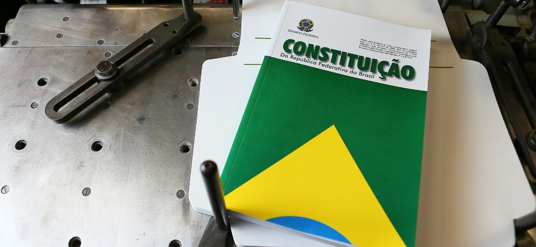 A Constituição de 1988 na gráfica do Senado - Sergio Lima/Folhapress