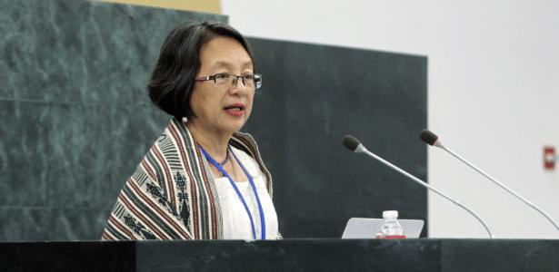 A filipina Victoria Tauli-Corpuz, relatora especial das Nações Unidas para os direitos dos povos indígenas em 2016
