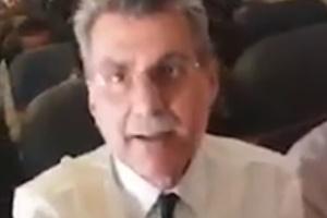 Em vídeo gravado durante voo, mulher confronta o senador Romero Jucá (PMDB-RR)