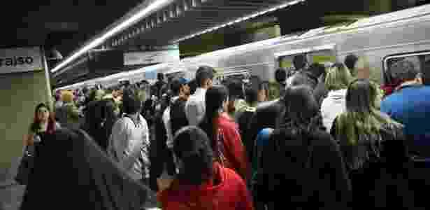 Movimentação na linha 2-verde do metrô de SP, que foi alvo do cartel de empreiteras, segundo a Camargo Corrêa - Renato S. Cerqueira/Futura Press/Folhapress