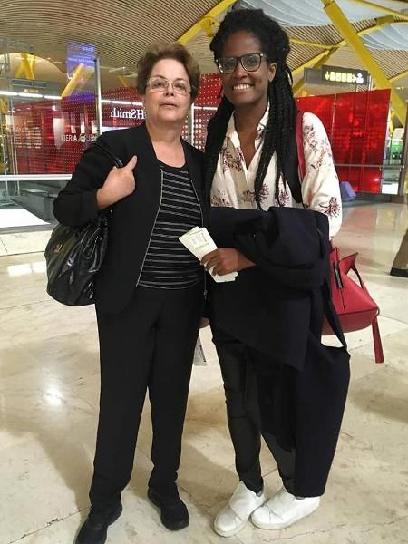 A filósofa Djamila Ribeiro defendeu a ex-presidente Dilma Rousseff de ofensas no aeroporto de Madri, na Espanha - Reprodução