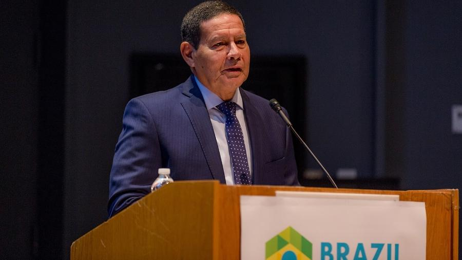 6.abr.2019 - O vice-presidente do Brasil, general Hamilton Mourão (PRTB) - Divulgação/Natalie Carroll/Confertence