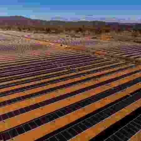 Parque solar que vai gerar energia para abastecer shopping no Rio ocupa área equivalentes 24 campos de futebol -  Multiplan/Divulgação