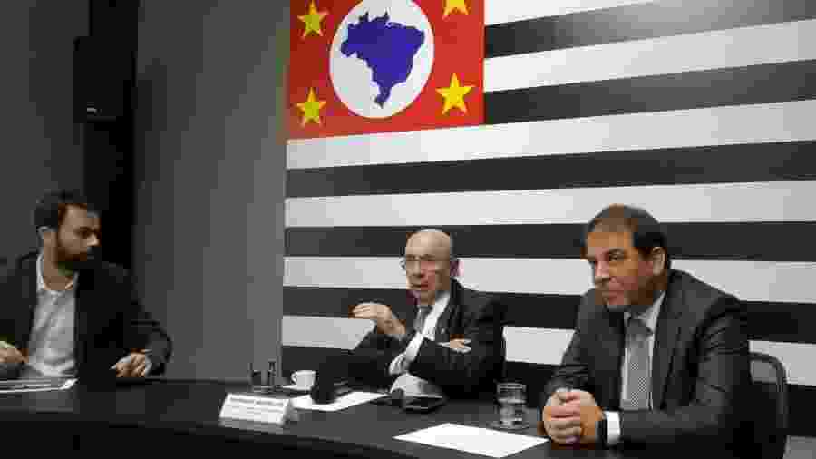 Henrique Meirelles, em evento no Palácio dos Bandeirantes, em São Paulo - Bruno Fernandes/UOL