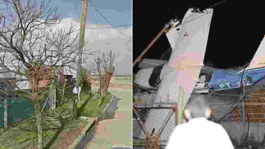 Avião que transportava quatro brasileiros caiu no telhado de uma casa na Argentina - Reprodução/Google - Reprodução/Twitter