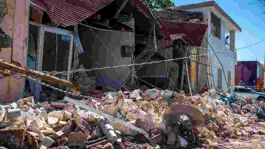 07/01/2020 - Porto Rico está acostumado a lidar com furacões, mas terremotos fortes como este são raros na ilha - Ricardo Arduengo / AFP